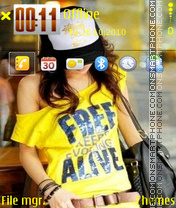 Emogirl 01 theme screenshot