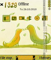 Love bird 01 es el tema de pantalla