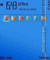 Blue Back es el tema de pantalla