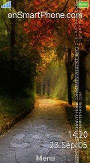Autumn Path 01 es el tema de pantalla