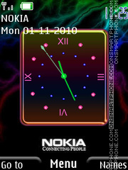 Nokia Clock 04 theme screenshot
