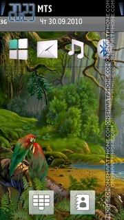 Parrots in jungle theme screenshot