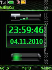 Clock $ indicators green es el tema de pantalla
