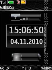Clock $ indicators theme screenshot