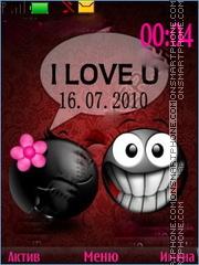 love smiles clock theme screenshot
