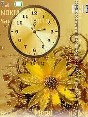 Golden Clock theme screenshot