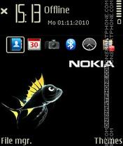 Nokia black fish theme screenshot