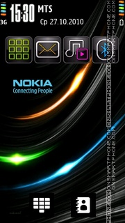 Abstract Nokia 04 theme screenshot
