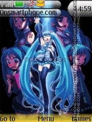 Hatsune Miku theme screenshot