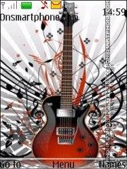 Guitar With ringtone theme screenshot