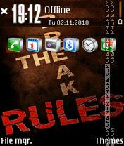 Rules es el tema de pantalla