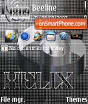 Helix Silver 240 yI theme screenshot