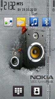 Capture d'écran Nokia 5800 XM thème