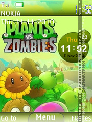 Plants vs Zombies es el tema de pantalla