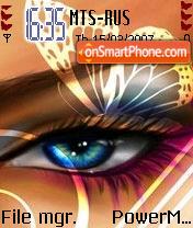 Butterfly Eyes theme screenshot