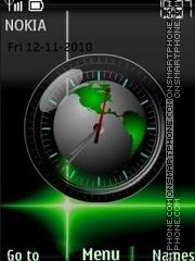 Green planet swf theme screenshot