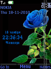 Dark blue rose theme screenshot