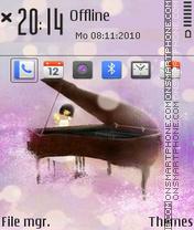 The piano 01 es el tema de pantalla
