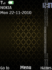 Gold 258 theme screenshot
