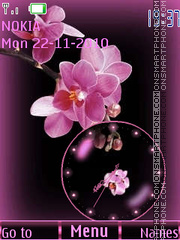 Orchids clock theme screenshot