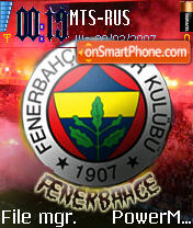 Fenerbahce theme screenshot
