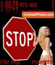 Tema Stop es el tema de pantalla