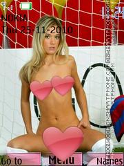 Girl footballer es el tema de pantalla