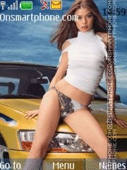 Girl&Car theme screenshot