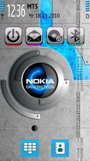 Blue Nokia 01 theme screenshot