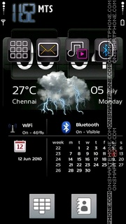 Digital Clock 01 theme screenshot