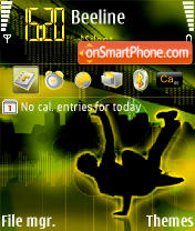 Break Dance es el tema de pantalla