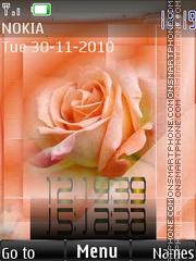 Orange rose 2 theme screenshot