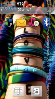 Love Band Hq es el tema de pantalla