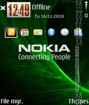 Nokia 7237 es el tema de pantalla