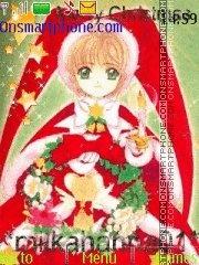 Sakura Christmas theme screenshot