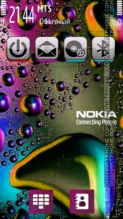 Colours Drops es el tema de pantalla