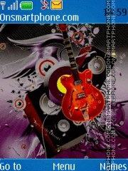 Guitar theme screenshot