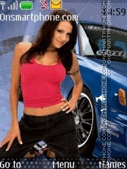 Subaru Impreza & Girl es el tema de pantalla