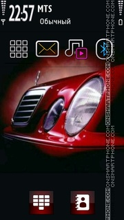 Red Benz theme screenshot