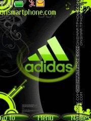 Capture d'écran Adidas green thème