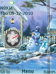 Snowman theme screenshot