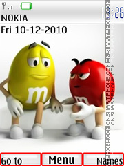 M And Ms theme screenshot