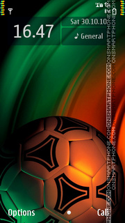 Soccer Ball Orange theme screenshot