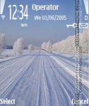 Winter road es el tema de pantalla