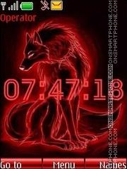 Red wolf swf theme screenshot