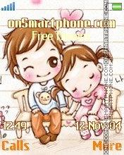 Cute lovers es el tema de pantalla