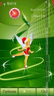Tinkerbell Xmas s^3 theme screenshot