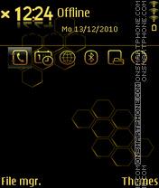Gold prism theme screenshot