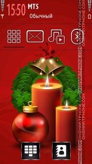 Christmas Candles 01 theme screenshot