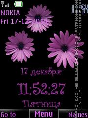 Violet camomiles theme screenshot